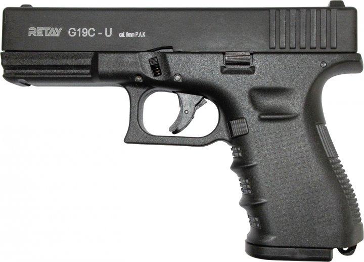 Стартовий пістолет Retay Arms G 19C-U 9 мм Black (11950420) - зображення 1