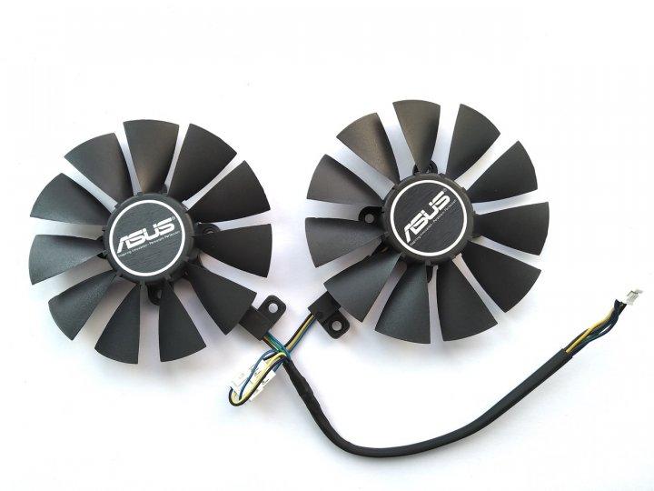 Вентилятор PowerLogic для видеокарты ASUS PLD09210S12HH (T129215SU T129215BU) комплект 2 шт (№119.3) - изображение 1