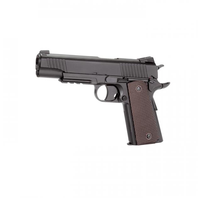 Пневматичний пістолет KWC Colt 1911 KM40DHN Кольт газобалонний CO2 129 м/с - зображення 1