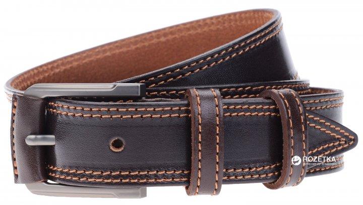 Мужской ремень кожаный Sergio Torri 3-0025 115-125 см Коричневый (2000000008219) - изображение 1