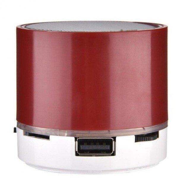 Портативна Bluetooth колонка SPS S11u з LED підсвічуванням червоний - зображення 1