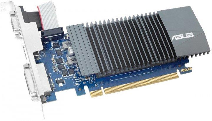 Asus PCI-Ex GeForce GT 710 1GB GDDR5 (32bit) (954/5012) (VGA, DVI, HDMI) (GT710-SL-1GD5-BRK) - зображення 1