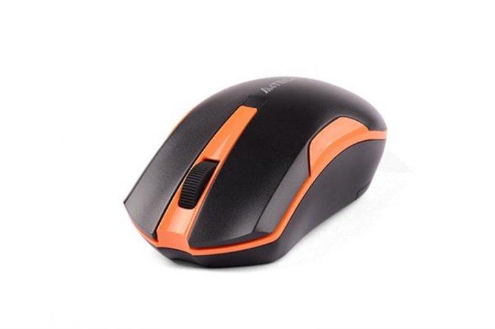 Мышь беспроводная A4Tech G3-200N Black/Orange USB V-Track - изображение 1