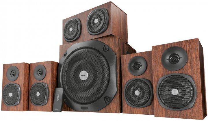 Акустична система Trust Vigor 5.1 Surround Speaker System for pc Brown (21786) - зображення 1