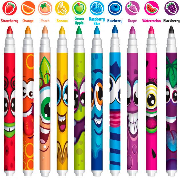 Набор ароматных маркеров для рисования Scentos Тонкая линия 10 цветов (40720) - изображение 1
