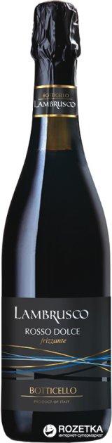 Вино игристое Botticello Lambrusco dell'Emilia Red Sweet красное сладкое 0.75 л 8% (8011510018241) - изображение 1