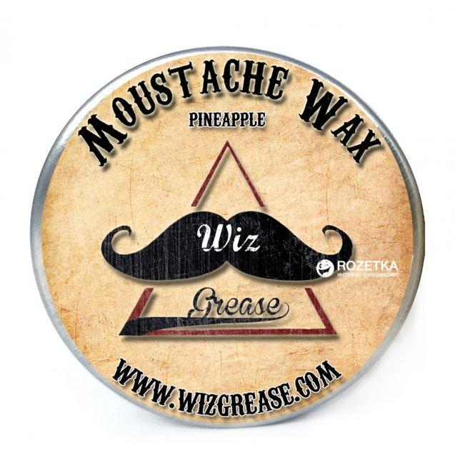 Віск для вусів WizGrease Medium Hold з ароматом ананаса 13 мл (13191) - зображення 1