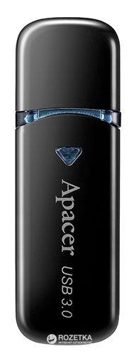 Apacer AH355 16GB USB 3.0 Black (AP16GAH355B-1) - изображение 1
