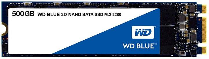 Western Digital Blue SSD 500GB M.2 2280 SATAIII 3D V-NAND (WDS500G2B0B) - изображение 1