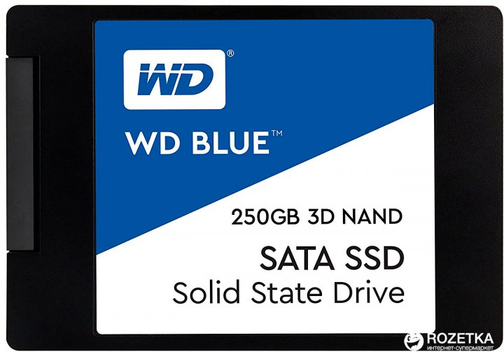 "Western Digital Blue SSD 250GB 2.5"" SATAIII 3D NAND (WDS250G2B0A) - изображение 1"