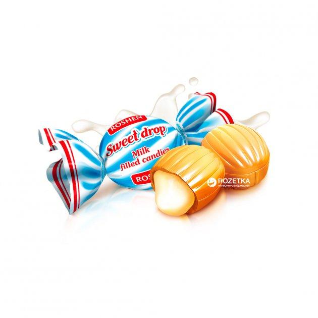 Карамель молочная Roshen Молочная капля 1 кг (4823077604591) - изображение 1