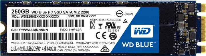 Western Digital Blue SSD 250GB M.2 SATAIII TLC (WDS250G2B0B) - изображение 1
