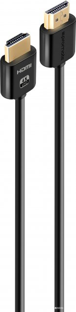 Кабель Promate proLink4K2 HDMI - HDMI v.2.0 1.5 м Black (proLink4K2-150.black)