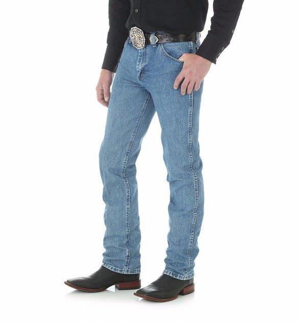 Вузькі чоловічі джинси Wrangler Premium Performance - Stonewashed W32 L34 Блакитний (36MWZSW) - зображення 1