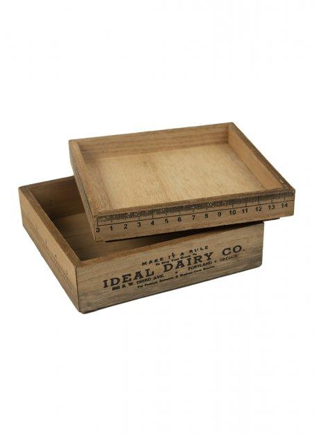 Набор декоративных коробок (2шт) Melinera 14х14х3,5х/14х14х2см Бежевый 000018100 - изображение 1