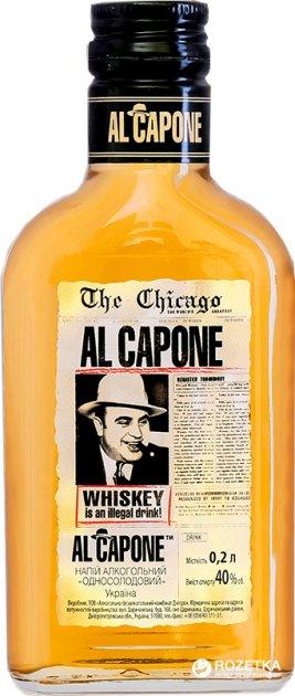 """Алкогольный напиток AL CAPONE """"Односолодовий"""" 0.2 л 40% (4820136352271) - изображение 1"""