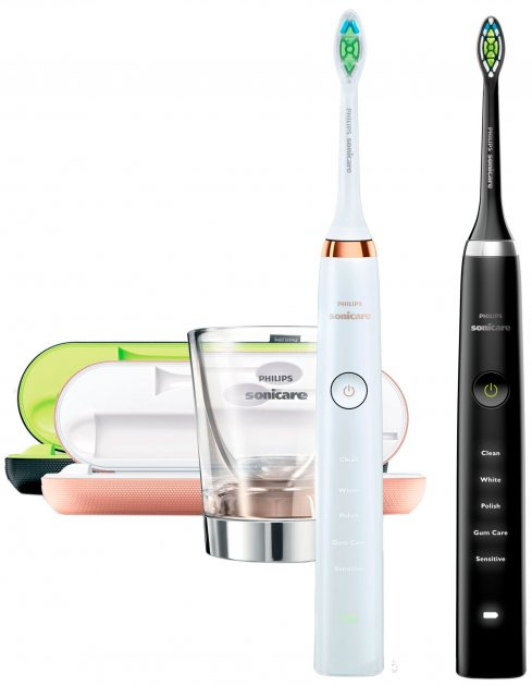 Набір електричних зубних щіток PHILIPS Sonicare DiamondClean HX9392/39 - зображення 1