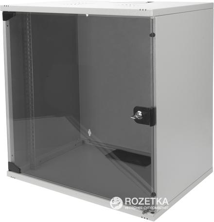 """Шкаф настенный серверный Digitus Professional SOHO 19"""" со стеклянной дверью 12U Серый (DN-1912-U-S-1) - изображение 1"""