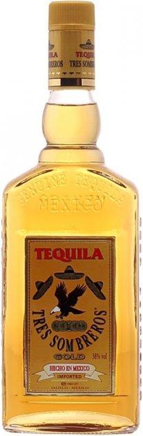 Текила Tres Sombreros Gold 0.5 л 38% (8414771865409) - изображение 1