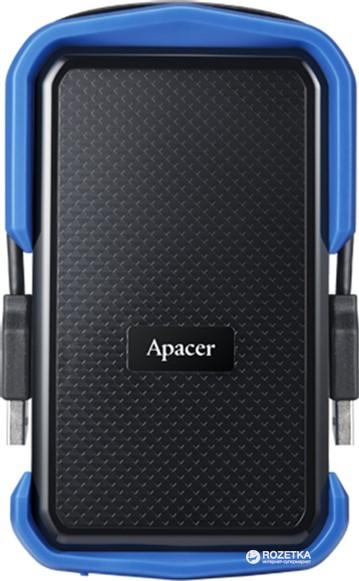 "Жорсткий диск Apacer AC631 2TB 5400rpm AP2TBAC631U-1 2.5"" USB 3.1 External Blue - зображення 1"