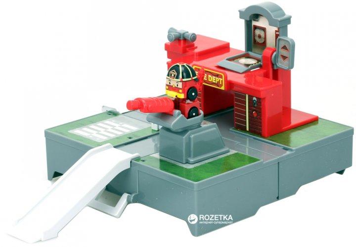 Ігровий набір Robocar Poli Гараж з міні-трансформером Роєм (83364) (4891813833642) - зображення 1