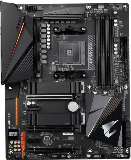 Материнська плата Gigabyte B550 Aorus Pro V2 (sAM4, AMD B550, PCI-Ex16) - зображення 1