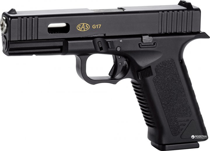 Пневматический пистолет SAS G17 Blowback 4.5 мм (KMB-19AHN) - изображение 1