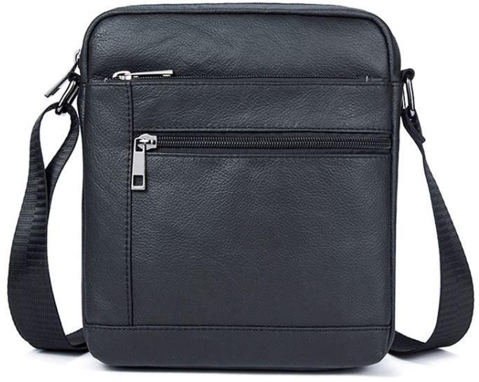 Мужская кожаная сумка-планшет Vintage leather-14720 Черная - изображение 1