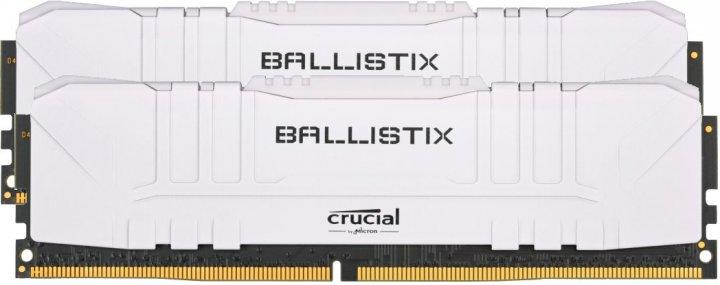 Оперативная память Crucial DDR4-3200 16384MB PC4-25600 (Kit of 2x8192) Ballistix White (BL2K8G32C16U4W) - изображение 1