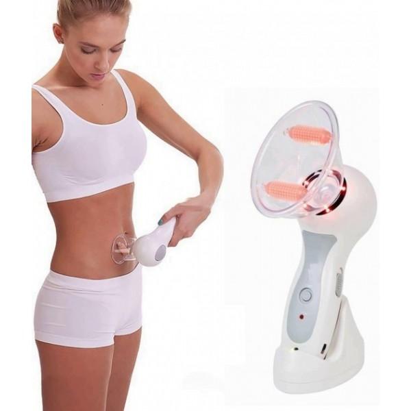 Антицелюлітний і лімфодренажний вакуумний роликовий масажер Celluless MD Beauty and Body Firming Домашній кращий вакуумний роликовий Білий масажер для всього тіла, рук, ніг, спини, живота - зображення 1