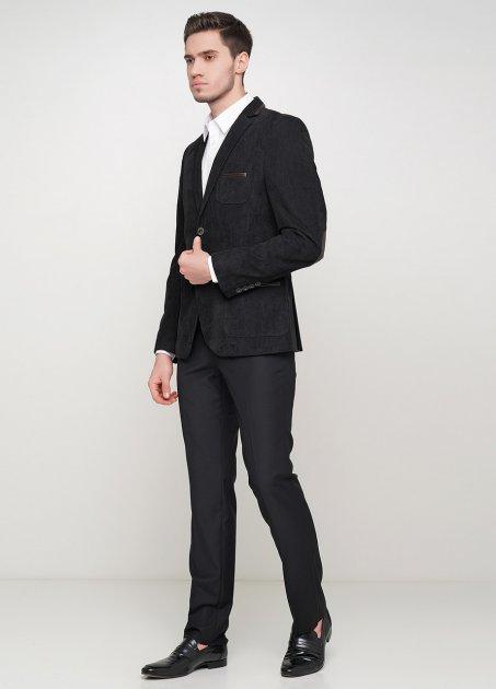 Чоловічий піджак Mia-Style MIA-283/08 52 чорний - зображення 1