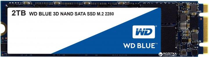 Western Digital Blue SSD 2TB M.2 2280 SATAIII 3D NAND (WDS200T2B0B) - изображение 1