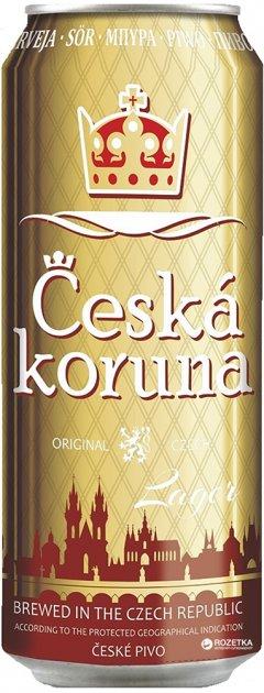 Упаковка пива Ceska Koruna Lager светлое фильтрованное 4.7% 0.5 л x 12 шт (8594166370357) - изображение 1