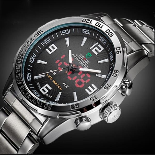Мужские спортивные кварцевые часы Weide Standart Silver 1506 - изображение 1