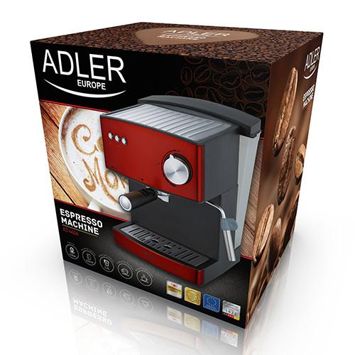 Кофеварка компрессионная Adler AD 4404 red 15 Bar - изображение 1