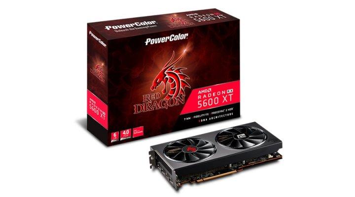 Відеокарта AMD Radeon RX 5600 XT 6GB GDDR6 Red Dragon PowerColor (AXRX 5600XT 6GBD6-3DHR/OC) - зображення 1