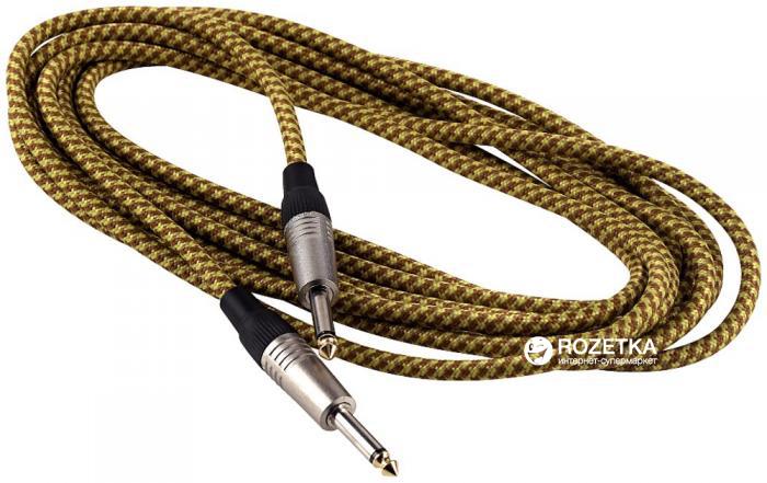Інструментальний кабель RockCable RCL30205 TC 5 м Gold Tweed (RCL30205 TC D/GOLD) - зображення 1