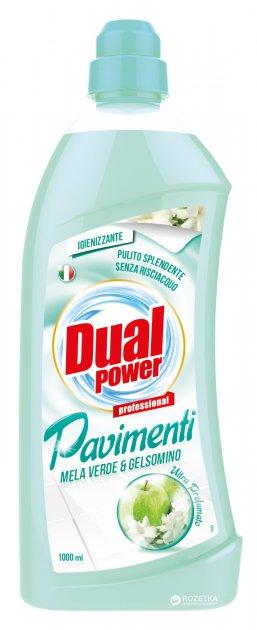Универсальное моющее средство для пола Dual Power Зеленое яблоко и жасмин 1 л (8032680396984_8054633832172) - изображение 1