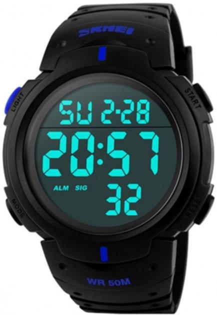 Мужские часы Skmei 1068 BK-Blue BOX (1068BOXBKBL) - изображение 1