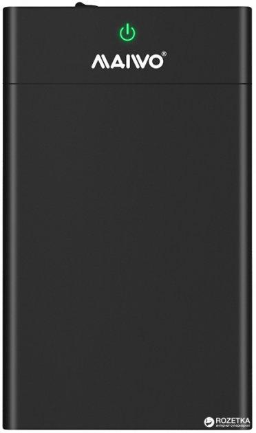 """Зовнішня кишеня Maiwo для HDD/SSD 3.5""""/2.5"""" SATA через USB3.1 Type-C (K3568G2) - зображення 1"""