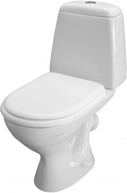 Унитаз-компакт КЕРАМИН Стиль МС Алкапласт 1117117 белый с сиденьем полипропилен - изображение 1