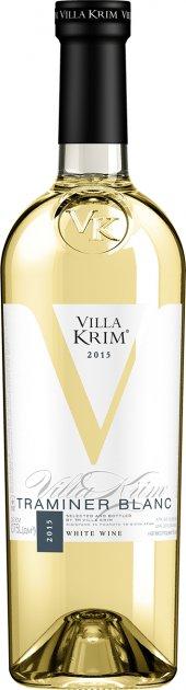 Вино Villa Krim Трамінер біле напівсолодке 0.75 л 9.5-13% (4820024229074) - зображення 1