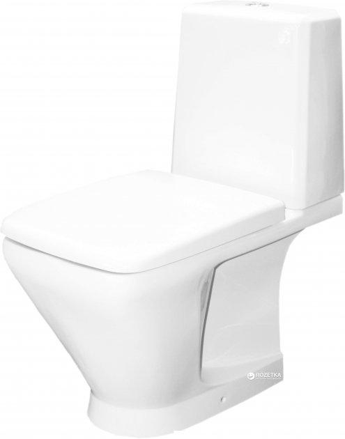 Унитаз-компакт КЕРАМИН Милан-N ЖС Дуал 1108443 без обода белый с сиденьем дюропласт - изображение 1