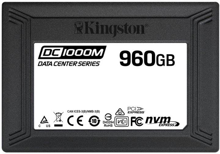 "Kingston DC1000M 960GB 2.5"" PCIe 3.0 x4 3D NAND TLC (SEDC1000M/960G) - зображення 1"
