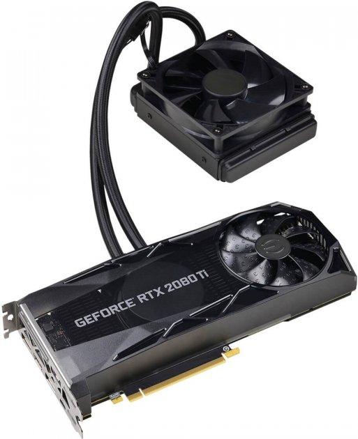EVGA PCI-Ex GeForce RTX 2080 Ti XC Hybrid Gaming 11GB GDDR6 (352bit) (1635/14000) (USB Type-C, HDMI, 3 x DisplayPort) (11G-P4-2384-KR) - изображение 1
