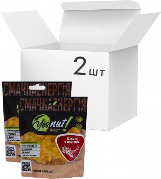 Упаковка цукатів з ананасів Yesnut! 100 г х 2 шт (9979473698520) - зображення 1