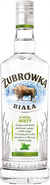 Водка Zubrowka Biala с мятой 0.5 л 37.5% (5900343005654) - изображение 1