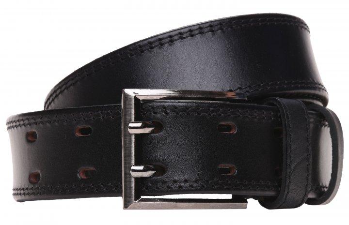 Мужской ремень кожаный Laras 125vgenduo2 125 см Черный (ROZ6300002368) - изображение 1