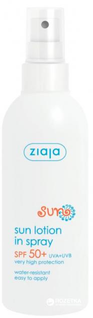Лосьон Ziaja увлажняющий спрей SPF 50+ 170 мл (5901887037231) - изображение 1