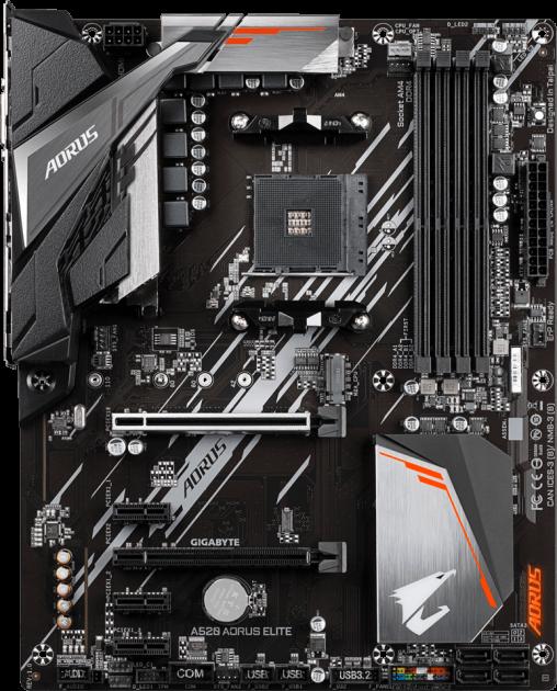 Материнская плата Gigabyte A520 AORUS ELITE (sAM4, AMD A520, PCI-Ex16) - изображение 1